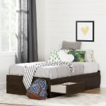 Twin Brown Oak Mates Bed with 3 Drawers (39 Inch) – Fynn