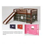 Twin Chocolate and Pink Tent Bed with Slide