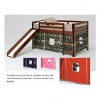 Twin Chocolate and Red Tent Bed with Slide