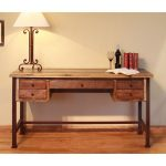 Two Tone Brown Small Office Desk – Antique
