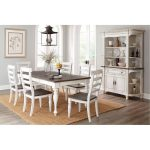 Two-Tone French Country 5-Piece Dining Set – Bourbon County