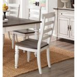 Two-Tone French Country Dining Chair with Turned Legs – Bourbon County