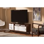 Two Tone Wood TV Cabinet