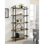 Urban Pipe Barnwood and Black Bookshelf