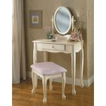 Vanity Mirror & Bench Set