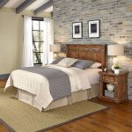 Vintage Natural Full/Queen Headboard and Two Nightstands – Americana