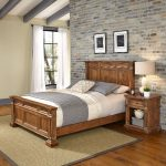 Vintage Natural Queen Bed and Nightstand – Americana