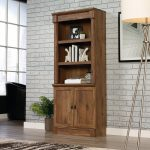 Vintage Oak Bookcase with Doors – Vine Crest