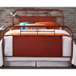 Vintage Orange Queen Metal Bed
