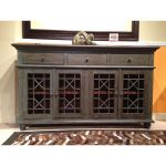 Vintage Turquoise & Gray-Blue 4 Door Console