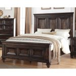 Walnut Brown Classic Traditional Queen Size Bed – Sevilla
