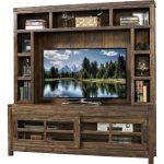 Walnut Brown Entertainment Center – St. Croix