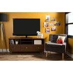 Walnut TV Stand with Drawers – Olly