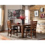 Walnut Transitional 5-Piece Dining Set – Redmond