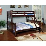 Walnut Twin-over-Queen Bunk Bed – Spring Creek