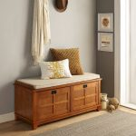 Warm Oak Entryway Bench – Alder
