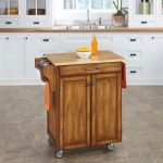 Warm Oak/Natural Kitchen Cart