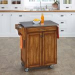 Warm Oak/Stainless Kitchen Cart