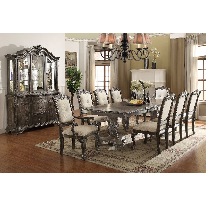 Ornate With The Flair Of Old World Style Is What Youu0027ll Find In This  Beautiful Dining Set From RC Willey. The Washed Gray Finish Highlights The  Carved ...