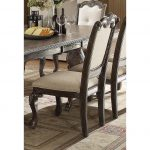 Washed Gray and Beige Upholstered Dining Chair – Kiera Collection
