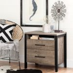 Weathered Gray 2-Drawer Nightstand – Munich