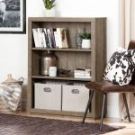 Weathered Oak 3 Shelf Bookcase – Kanji