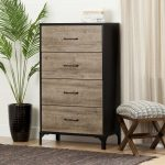 Weathered Oak 4 Drawer Chest – Valet