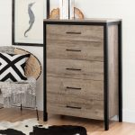 Weathered Oak 5-Drawer Chest – Munich