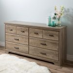 Weathered Oak 6-Drawer Double Dresser – Versa