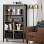 Weathered Oak 6-Shelf Bookcase – Munich