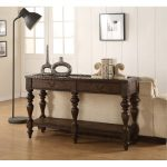 Weathered Oak Brown Sofa Table – Bordeaux