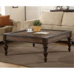 Weathered Oak Brown Square Coffee Table – Bordeaux