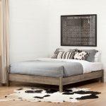 Weathered Oak Full/Queen Platform Bed – Munich