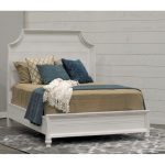 Weathered White Casual King Size Bed – Carriage House
