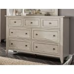 Weathered White Casual Traditional Dresser – Raelynn