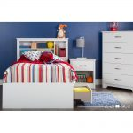 White 1-Drawer Nightstand – Fusion