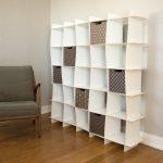 White 25 Wave Cube Modern Storage Bookcase – Organization