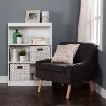 White 3-Shelf Bookcase with 2 Storage Bins – Axess
