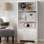 White 3-Shelf Storage Bookcase – Vito