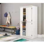 White 4-Door Storage Cabinet – Morgan