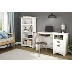 White 4 Shelf Bookcase – Artwork