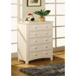 White 5-Drawer Chest of Drawers