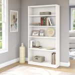 White 5-Shelf Bookcase – Universal