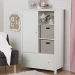 White Armoire with Drawer – Cotton Candy