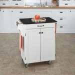 White/Black Granite Kitchen Cart