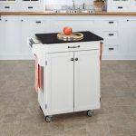 White/Black Granite Kitchen Cart