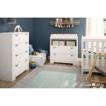 White Changing Table & 4- Drawer Chest – Reevo
