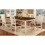 White & Cherry 5-Piece Dining Set – Dover