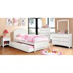White Classic Twin Platform Bed – Lexington