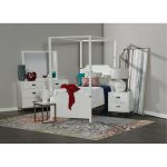 White Contemporary 7-Piece Twin Bedroom Set – Tinley Park